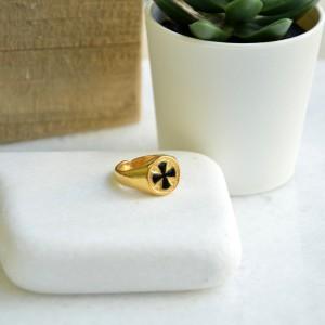 Δαχτυλίδι Σταυρός Gold