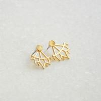 Ear Jackets Lotus Gold