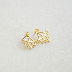 Ear Jackets Lotus Gold
