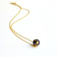 Χειροποιητα Κολιε - Χειροποίητο κολιέ Υδρόγειος Lapis Lazuli 925