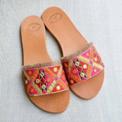 Ethnic Leather Sandals