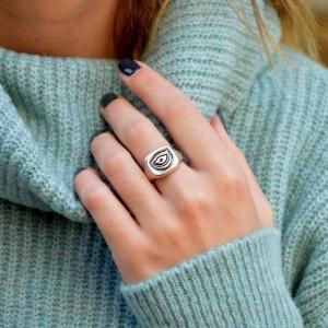 Επάργυρο δαχτυλίδι Μάτι