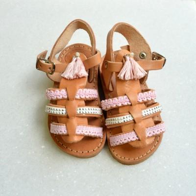 Παιδικά σανδάλια μονομάχου Pastel Pink