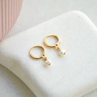 Mini hoops με μαργαριτάρι